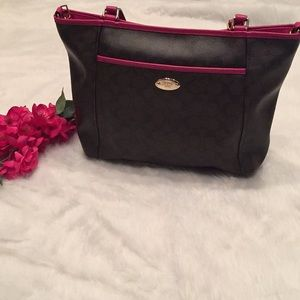Brown and Pink Coach